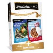 Wonderbox Coffret cadeau Nuit insolite en duo + Saveurs régionales - Wonderbox