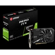 Placa video MSI nVidia GeForce GTX 1650 AERO ITX 4G OC, Interface: PCI Express x16 3.0, Cores: 869 units, Core clock: up to 1740 MHz, Memory speed: 8 Gb/s, Memory: 4GB GDDR5