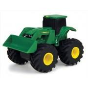 Tomy ERTL John Deere Monster Treads Pullback Tread Thrashers Tractor with front loader