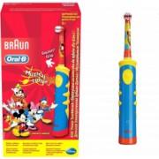 Periuta de dinti electrica Oral-B pentru copii D10.513K 5600 oscilatii/min rosu/albastru