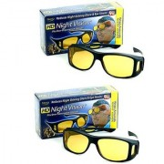 BUY 1 GET 1 FREE HD Wrap Arounds Night Best Quality Night Drivng HD Night Vision NV Glasses In Best Price (AS SEEN ON TV)