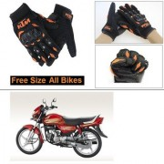 AutoStark Gloves KTM Bike Riding Gloves Orange and Black Riding Gloves Free Size For Hero CD deluxe