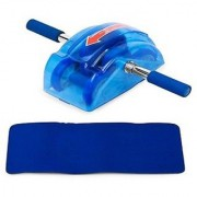 Instafit Ab Slider Roller Abdominal Exercise With Free Mat Ab Exerciser (Blue)