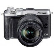 Canon Systemkamera Canon EOS M6 EF-M 18-150 mm 24.2 Megapixel Silver WiFi, Bluetooth, Full HD Video
