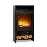 Klarstein Bergamo, șemineu electric, 900/1800 W, termostat, aspect din lemn, negru (FP1- Bergamo)