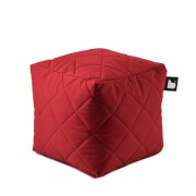Extreme Lounging B-Box quilted poef-rood