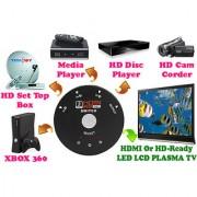 Gadget Hero's 3 Port Mini 1080p HDMI Switcher Splitter Box HDTV DVD HD Set Top Box XBOX HD Media Player