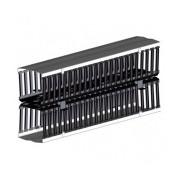 Leviton Manejo de Cables Vertical Frontal y Posterior, 20cm x 2m, Cubierta con Bisagra Negra