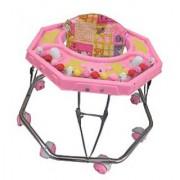 Suraj Baby Steel Pipe pink Walker for your kids Se-W-23