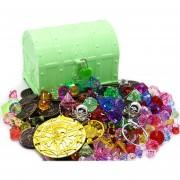 Cofre del tesoro pirata juguete - Verde L