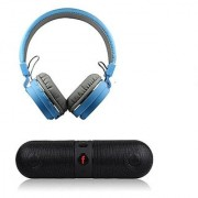 Deloc SH12 With Pill BT Speaker Over Ear Wireless Headphones With Mic