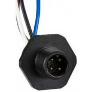 Adaptor, metal - gaură filetată m20 - pentru conector tată, m12, 5-fire - Conectori pentru senzori - XZCE03M125M - Schneider Electric