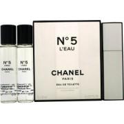 Chanel No 5 L'Eau Presentset 3 x 20ml EDT (1 Purse Spray + 2 Refills)