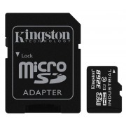 Card Kingston Industrial microSDHC 32GB 45 Mbs Clasa 10 UHS-I U1 cu adaptor SD