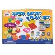 Grapple Deals Super Artist Playset Finger Paint with Funny Stamp, Magic Clay Funny Dough Set,Paint and Count Best Learning and Fun Set for Kids.