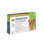 Simparica 80mg Chewable Tablets For Dogs >20-40 kg (44-88 lbs)
