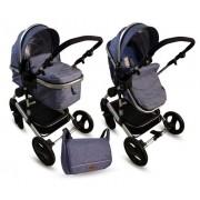 BBO Kolica za bebe MATRIX 2U1 plava (PL0013)