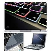 FineArts Laptop Skin 15.6 Inch With Key Guard & Screen Protector - Keyboard Color Led