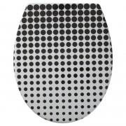 Tiger WC bril Speckels Duroplast Zwart-wit