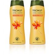 Trichup Hair Fall Control Herbal Hair Shampoo (400 ml) (Pack of 2)(Golden Range)