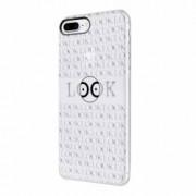 Husa Silicon Transparent Slim Look At Me Apple iPhone 7 Plus 8 Plus