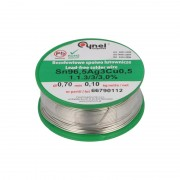 Fludor fără Plumb Sn 99 Cu 07 Ag 03 - EVO / 3 / 3.0% (SAC0307) Low SAC cu Diametrul de 0.7 mm (100 g)