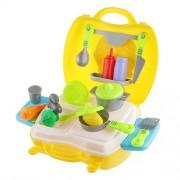NF&E 26pcs Kitchen Wares Fruit Vegtable Kit Playset Kids Pretend Play Toy-Yellow
