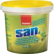 Detergent pasta cu parfum de lamaie ideal pentru degresarea vaselor, 500gr., SANO SAN PASTA