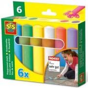 Комплект тебешири, 6 цвята, SES, 080037