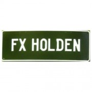 """Novelty Number Plate - FX Holden White On Black"""