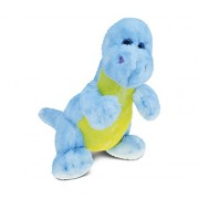 Puzzled Blue Dinosaur Super - Soft Stuffed Plush Cuddly Animal Toy Dinosaurs / Prehistoric Theme 9 Inch (5322)