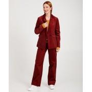 Karen Damen Blazer van ribfluweel Karen Damen in rood