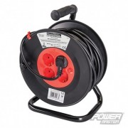 PowerMaster Prodlužovací kabel na bubnu, 230 V, norma Schuko, 16 A - 16A 25m 4 CEE 7/4 Sockets 197277 5024763114885
