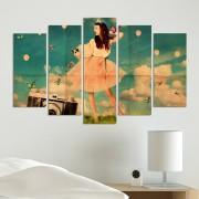Декоративен панел за стена с момиче и фотоапарат Vivid Home