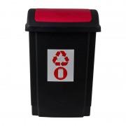 Xenos Prullenbak - rood - 25 liter