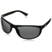 Black Flys Wrap Sunglasses,Shiny Black,63 mm