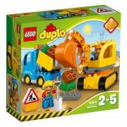 Lego Klocki konstrukcyjne DUPLO Ciężarówka i Koparka Gąsienicowa 10812