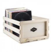 Nostalgy Record Box WD Cassetta per Dischi LP Vinili Legno massiccio/multip