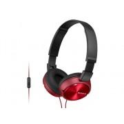 Sony Auriculares con cable SONY MDRZX310R.AE (On ear - Micrófono - Atiende llamadas - Rojo)