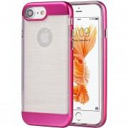 Funda Case Para IPhone 7 / IPhone 8 Transparente Con Bumper-Rosa