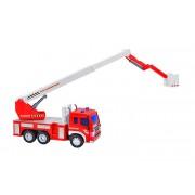 Masina de pompieri cu macara, pentru copii, Globo Wtoy cu sunete si lumini