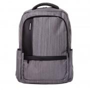 Rucsac laptop Lamonza Pulse, buzunare exterioare, spate ergonomic, gri