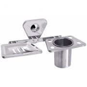 Fortune Bathroom Soap Dish + Tumbler Holder or Soap Case with Toothbrush Stand ( Material Stainless Steel ) Set of 1