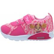 Pantofi sport cu luminite licenta Paw Patrol Patrula Catelusilor model 5765 Skye roz/alb 20-25 EU