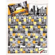 Coordinabili Completo Lenzuola Letto Una Piazza Percalle di Cotone Made in Italy NEW-YORK