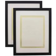 Juvale Marco para documentos con papel en blanco (11 x 14 pulgadas, 2 unidades), Paquete de 2