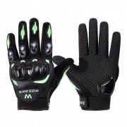 WOSAWE BST-015 Guantes de moto Full-Finger-verde? negro (L)