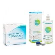 PureVision 2 (6 linser) + Solunate Multi-Purpose 400 ml med linsetui