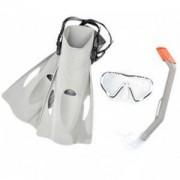 Комплект за гмуркане с плавници BESTWAY Hydro Swim 25025, Сив, BW25025-grey
