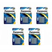 5 PAQUETES DE PILAS PANASONIC EVOLTA ALCALINA AAA C/4 1.5V LR03EGL/B4